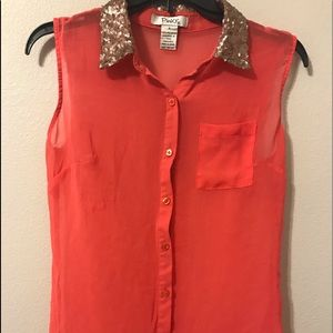 Small Pinky Coral Colored Woman's Blouse
